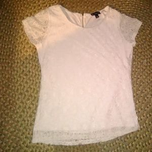 Valerie Bertinelli Lace Lined Top